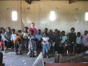 Bench of Children in Chiasa, Zambia